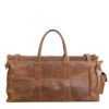 Genuine Leather Travel Bag Waxy Tan