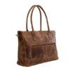 """Genuine leather handbag Casablanca 15"""" Waxy Tan"""