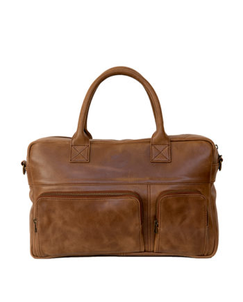 "Genuine Leather Laptop Bag Galaxy 15"" Waxy Tan"