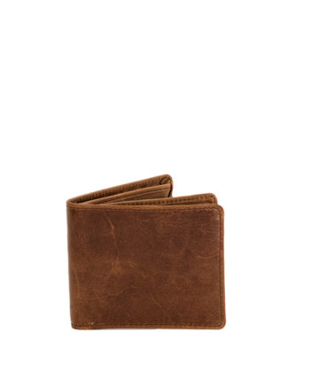 Genuine Leather Mens Wallet James Waxy Tan