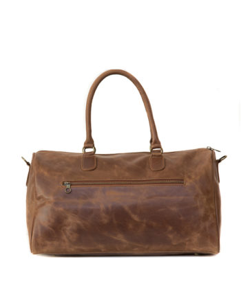 Genuine Leather Travel Bag Joy Waxy Tan