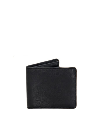 Max Black Genuine Leather Mens Wallet