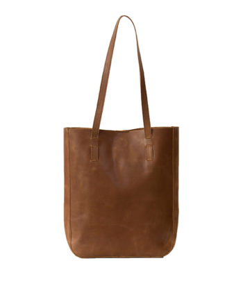 Genuine leather handbag Tan