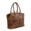 Genuine leather handbag Poppy Waxy Tan