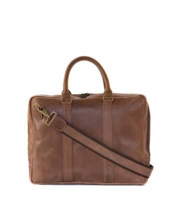 "Genuine Leather Laptop Bag Supernova 13"" Waxy Tan"