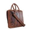 "Genuine Leather Laptop Bag Supernova 13"" Chestnut"
