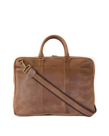 "Genuine Leather Laptop Bag Supernova 15"" Waxy Tan"