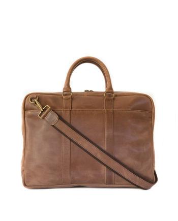 "Genuine Leather Laptop Bag Supernova 15"" Waxy Tan"