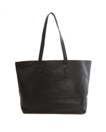 Genuine Leather Tote Black Ubud