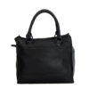 Bastille Black Leather Handbag