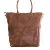 Genuine Waxy Tan Leather Handbag Berlin