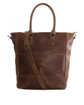 Genuine Waxy Tan Leather Handbag Berlin