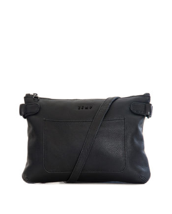 Genuine Black Leather Slingbag Ibiza