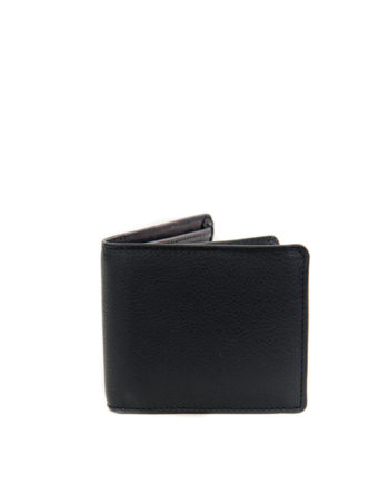 Genuine Leather Mens Wallet James Black