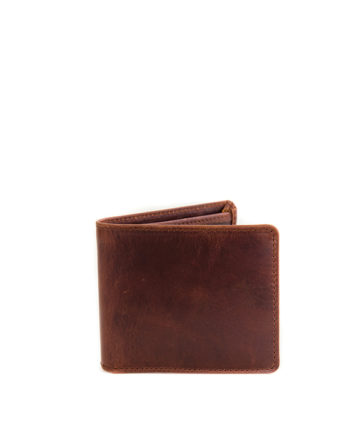 Max Chestnut Genuine Leather Mens Wallet