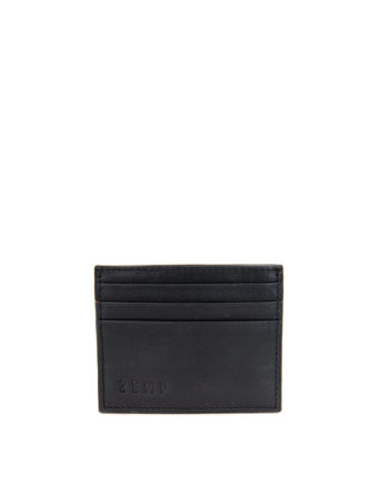 Genuine Leather Card Holder Black