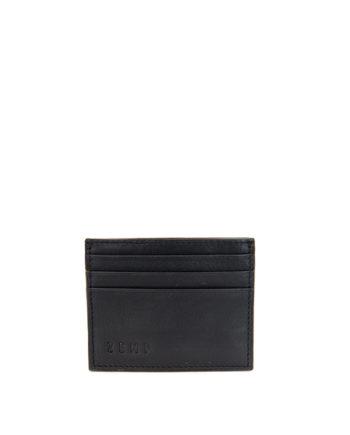 Genuine Leather Card Holder Black