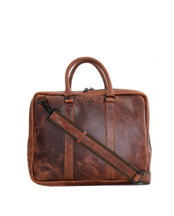 "Genuine Leather Laptop Bag Supernova 13"" Chestnut"