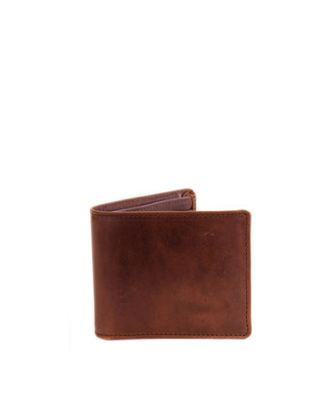Wall Street Chestnut Genuine Leather Mens Wallet