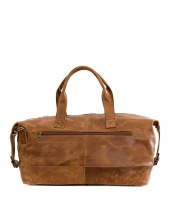 Leather Travel Bag Relax Back Waxy Tan